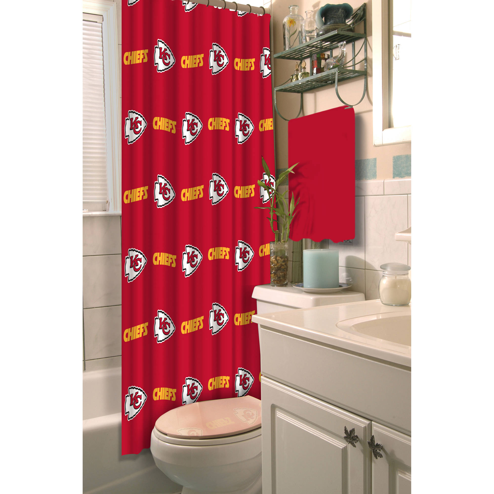 NFL Shower Curtain, Chiefs