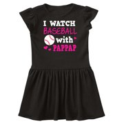 I Watch Baseball with My Pappap Infant Dress