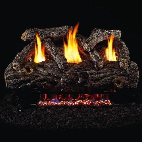 Peterson Real Fyre 24-inch Golden Oak Designer Log Set With Vent-free Propane