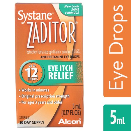 Zaditor Antihistamine Eye Drops, OTC Allergy Symptom Relief, 5