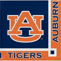 Auburn University Paper Beverage Napkins 20 Count for 10 Guests
