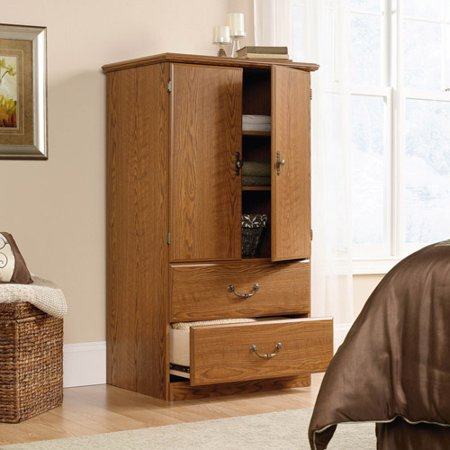 Boutique Armoire - Sauder Orchard Hills Armoire, Carolina Oak Finish