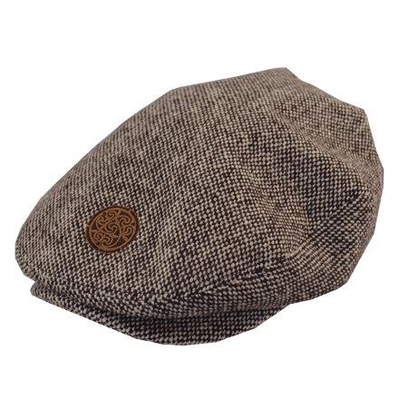 Patrick Francis Men's Irish Brown Tweed Flat Cap