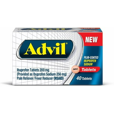 Advil Film-Coated Ibuprofen 200 mg Tablets 40 ea (Pack of 2)