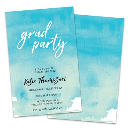Personalized Watercolor Sky Graduation Party (Sky Personalized Chocolate)