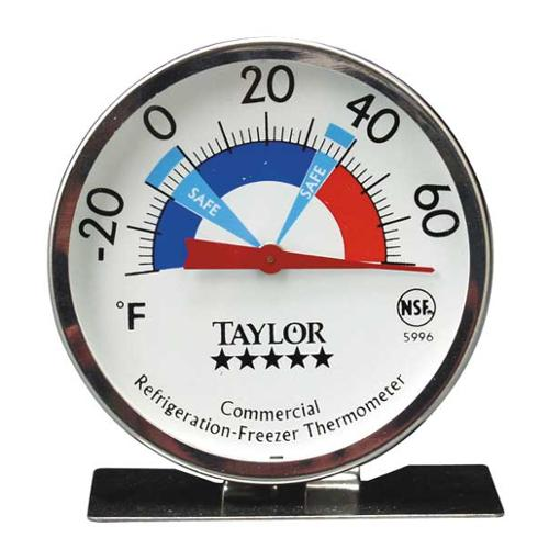 TAYLOR 5996N Food Srvc Thrmomtr, Frdge/Frzr, -30 to70 F