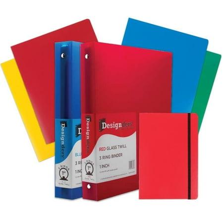 jam paper back to school assortments heavy duty folders 4 1 inch