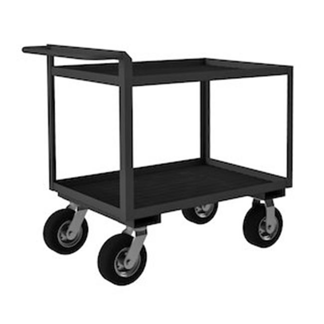 Durham RSCR304838ALURM8PN95 38 in. Rolling Service Cart, Gray - 1500 lbs