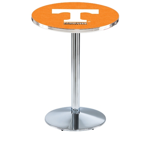 NCAA Pub Table by Holland Bar Stool, Chrome - University of Tennessee, 36'' - L214