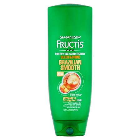 Garnier Fructis Sleek   Shine Brazilian Smooth Fortifying Conditioner  13 Fl Oz