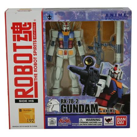 Bandai Tamashii Nations RX-78-2 Ver. A.N.I.M.E. Mobile Suit Gundam Bandai Robot Spirits Action Toy Figure - Gundam 00 Robot