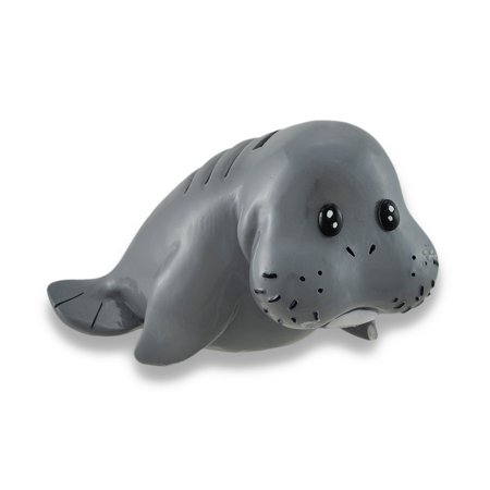 Whimsical Baby Manatee Coin Bank 6 5 In