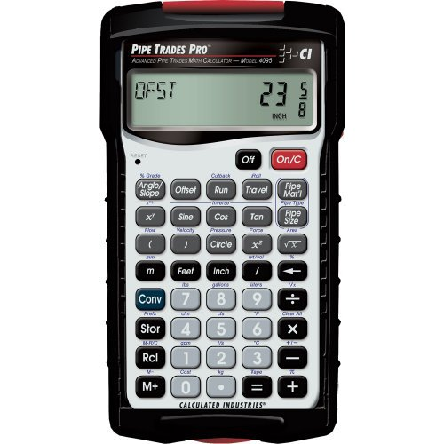 Pipe Trades Pro 4095 Advanced Pipe Trades Math Calculator