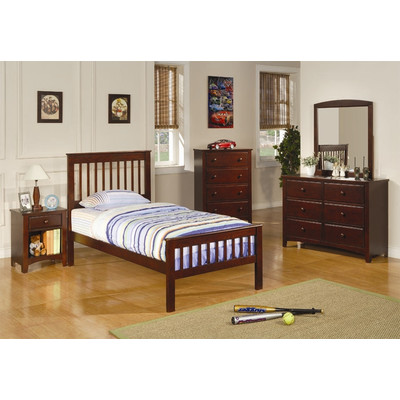 Bundle-05 Wildon Home   Perry Twin Slat Customizable Bedroom Set (3 Pieces)