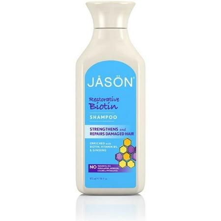 Jason Restorative Biotin Pure Natural Shampoo 16 oz (Pack of