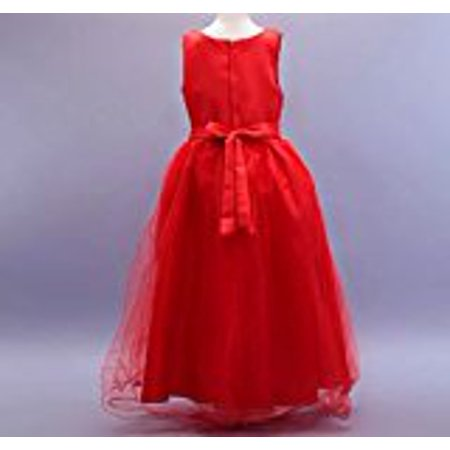 Princess Bodice - Girls' Long Sleeve Lace Bodice with Mesh Pleated Skirt Princess Party Dress