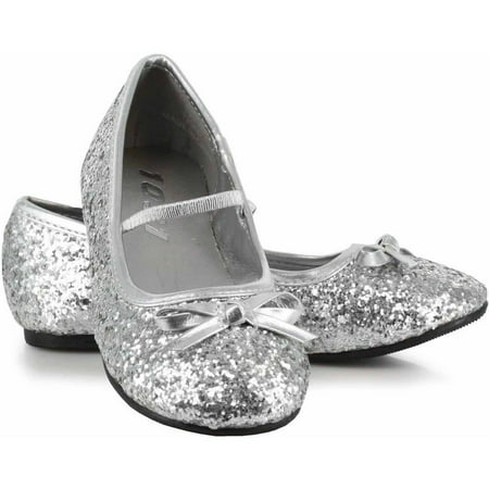 Sparkle Ballerina Silver Shoes Women's Adult Halloween Costume Accessory