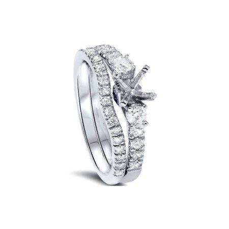 1/2ct Diamond Engagement Ring Setting Set 950 Platinum