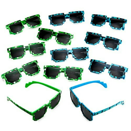 Katzco Pixel Sunglasses, Birthday Party Favors for Kid's and Adult's, 12 - Favors For Birthday Party