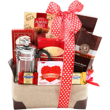 Image of Alder Creek Burning Love Valentine Gift Basket, 10 pc