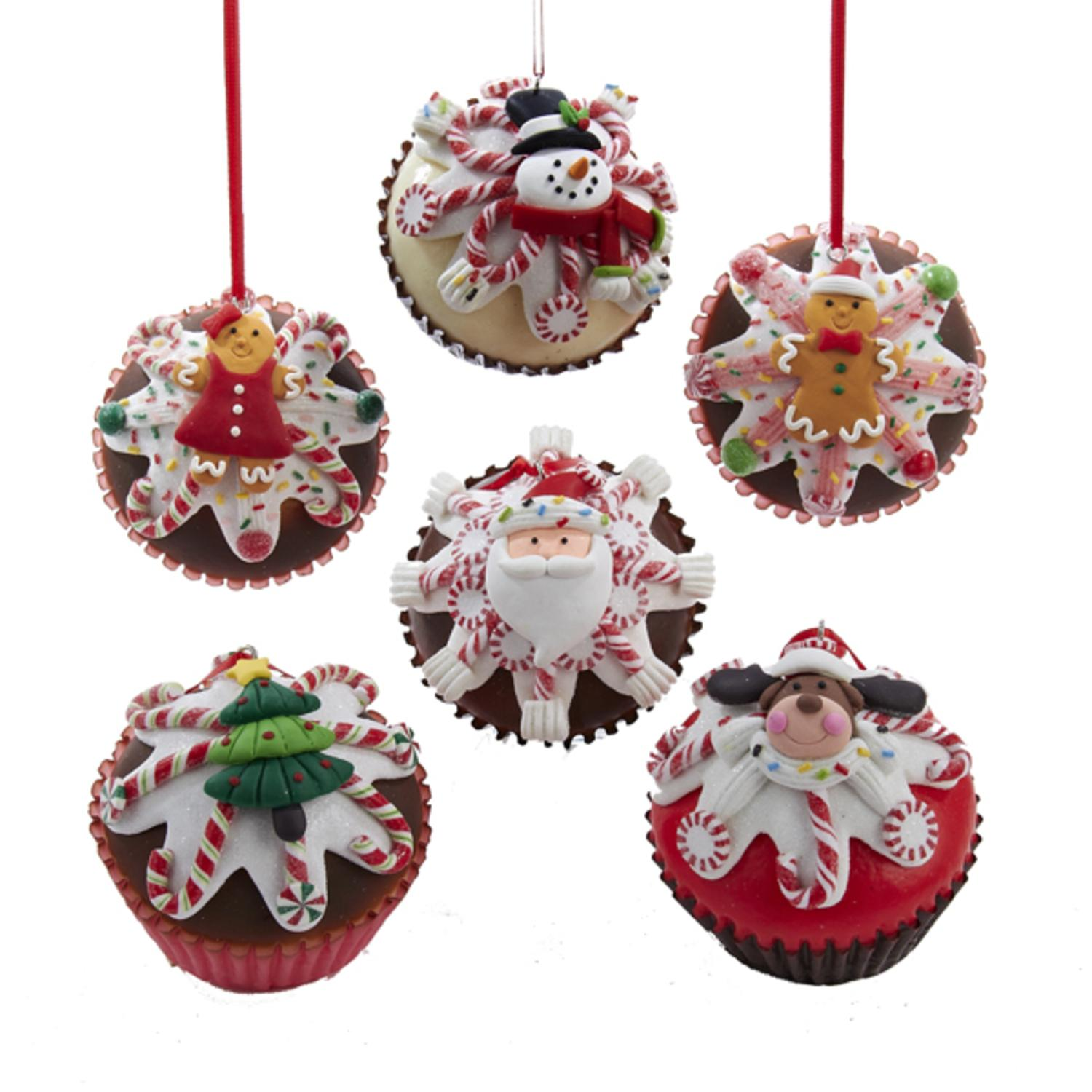 Club Pack of 12 Assorted Cupcake Heaven Christmas Ornaments 2.75""