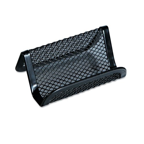 Universal Office Products 20005 Mesh Metal Business Card Holder, 50 2 1/4 X 4 Cards, Black