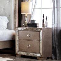 Furniture of America Andriani 2 Drawer Nightstand