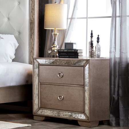 Furniture of America Andriani 2 Drawer Nightstand