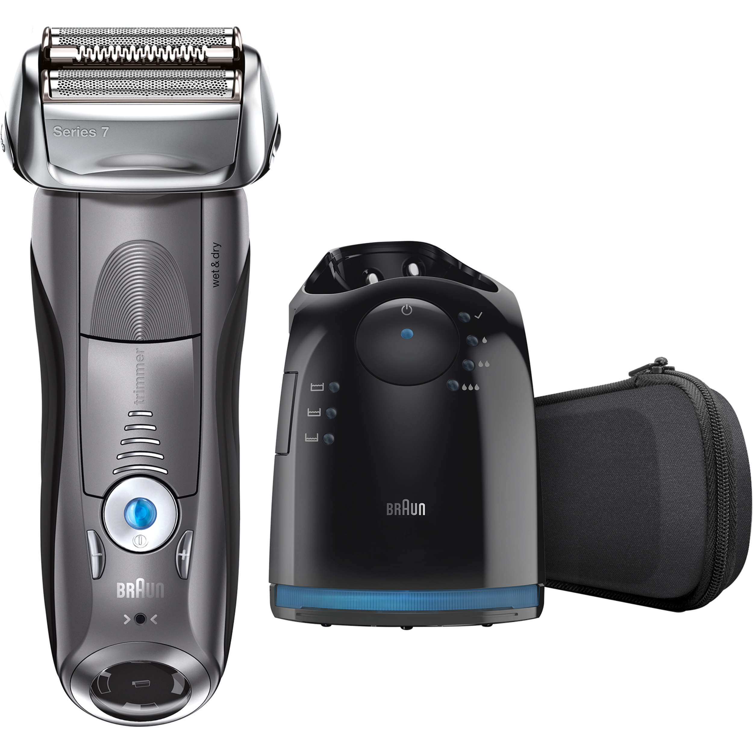 Braun Series 7 7865cc ($35 Rebate Available) Men's Electric Foil Shaver, Wet and Dry Razor with Clean & Charge Station