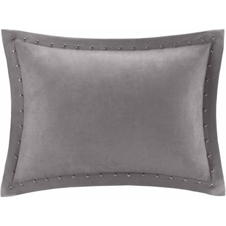 Home Essence Hayes Stud Trim Microsuede Oblong Pillow