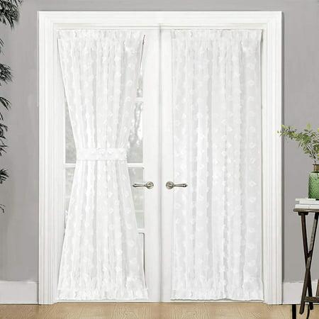 DrfitAway Olivia Voile Sheer Door Single Rod Pocket Curtain 52