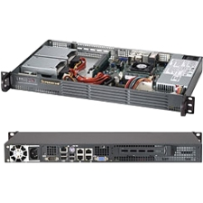 Supermicro SuperChassis 504-203B (Black) - Rack-mountable -1U