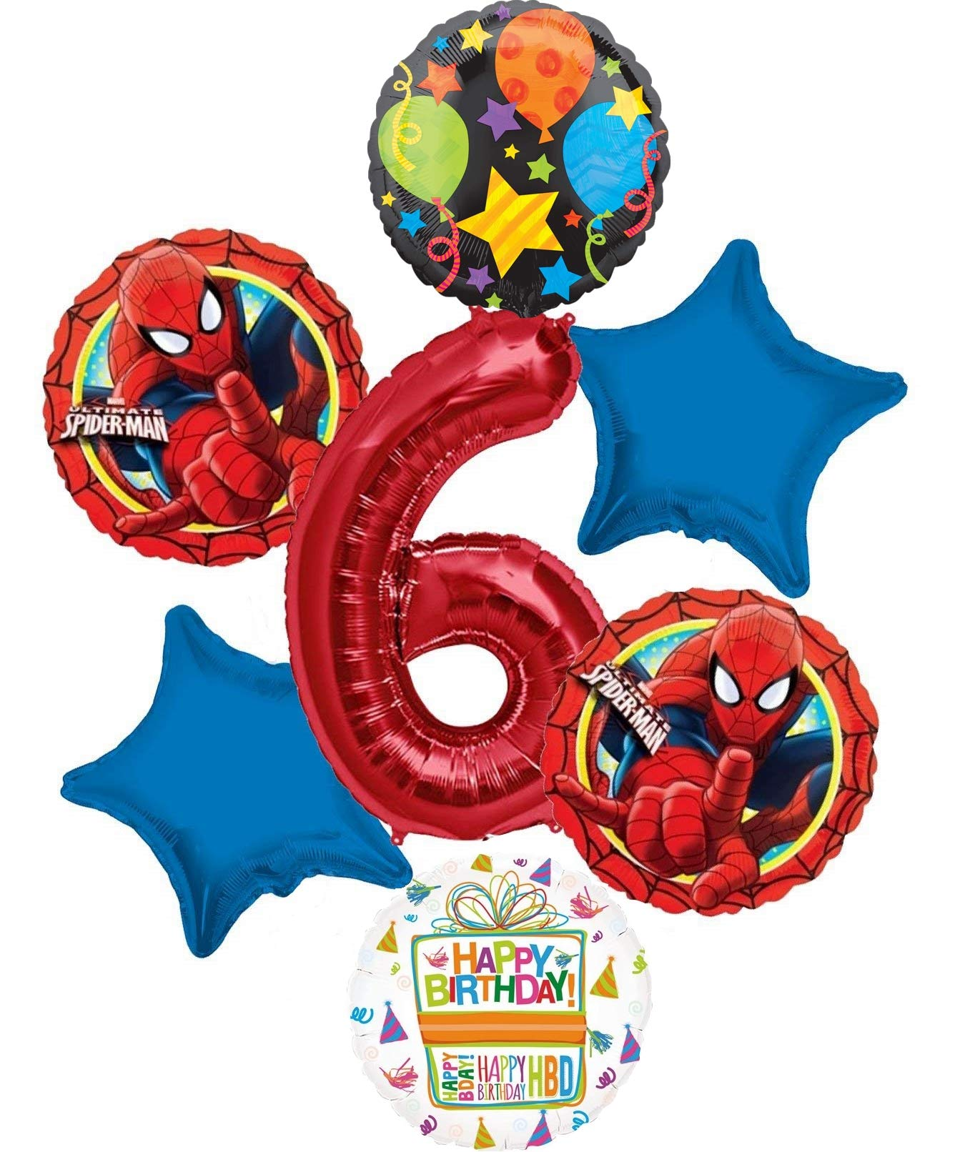 Mayflower Products Baseball 6th Birthday Party Supplies and Balloon Bouquet Decorations