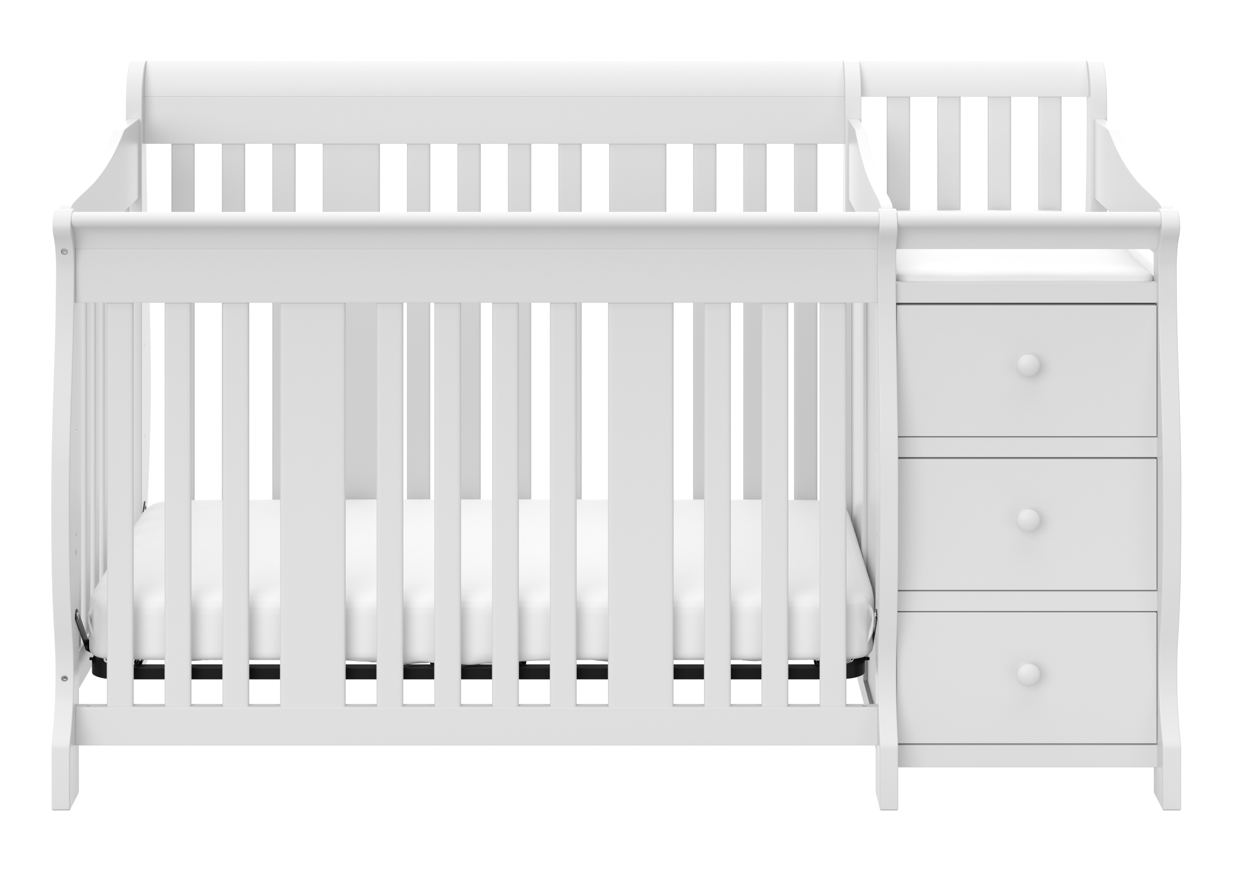 Storkcraft Portofino 4 in 1 Convertible Crib and Changer Combo Espresso by Storkcraft