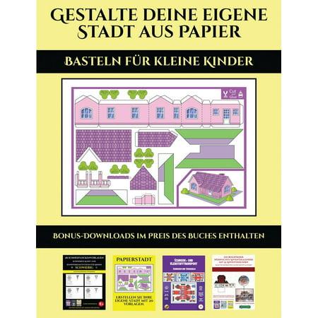 Basteln Für Kleine Kinder: Basteln für kleine Kinder: 20 vollfarbige Vorlagen für zu Hause (Paperback) (Halloween Books For Kinder)