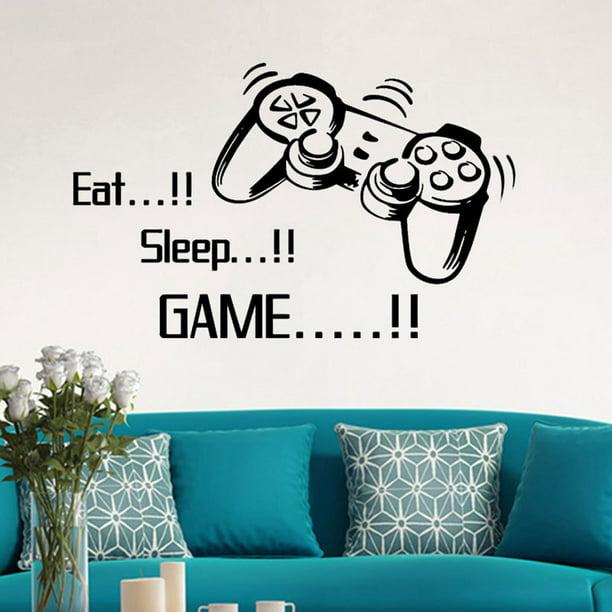 Gobestart Eat Sleep Game Wall Stickers Boys Bedroom Letter DIY Kids Rooms Decoration Art