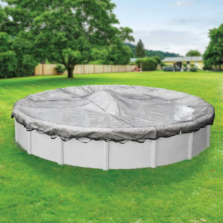 Pool Mate Heavy-Duty Leaf Net for Round Above-Ground Swimming Pool Winter Covers, 24 ft. Round