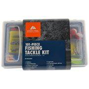 Ozark Trail 101 Piece Fishing Tackle Kit, Medium, Black / Clear