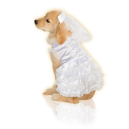 Halloween Dog Bride Dress & Veil](Dressed Up Dogs Halloween)