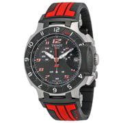 - T Race Chronograph Black Dial Men's Watch