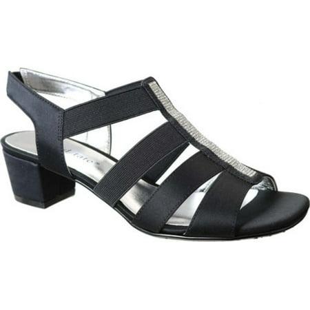 Women's Eve Jeweled Sandal (Jeweled Satin Sandals)