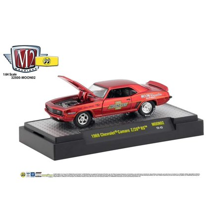 M2 Machine 1969 Chevrolet Camaro Z/28 RS Mooneyes Moon02 1/64 Scale Diecast Model Car