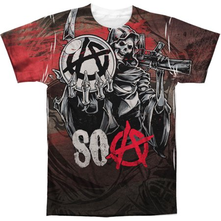 Sons Of Anarchy Men's  Reaper Ball Sublimation T-shirt White