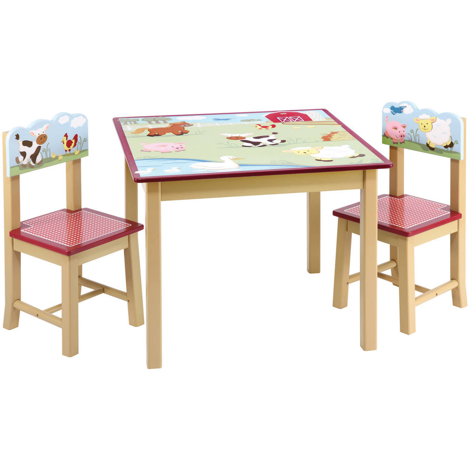 Guidecraft Farm Friends Table and Chairs Set Green Walmart