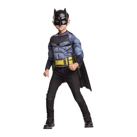 Batman Muscle Shirt (Tactical Batman Boys Child Muscle Chest Superhero Costume Shirt)