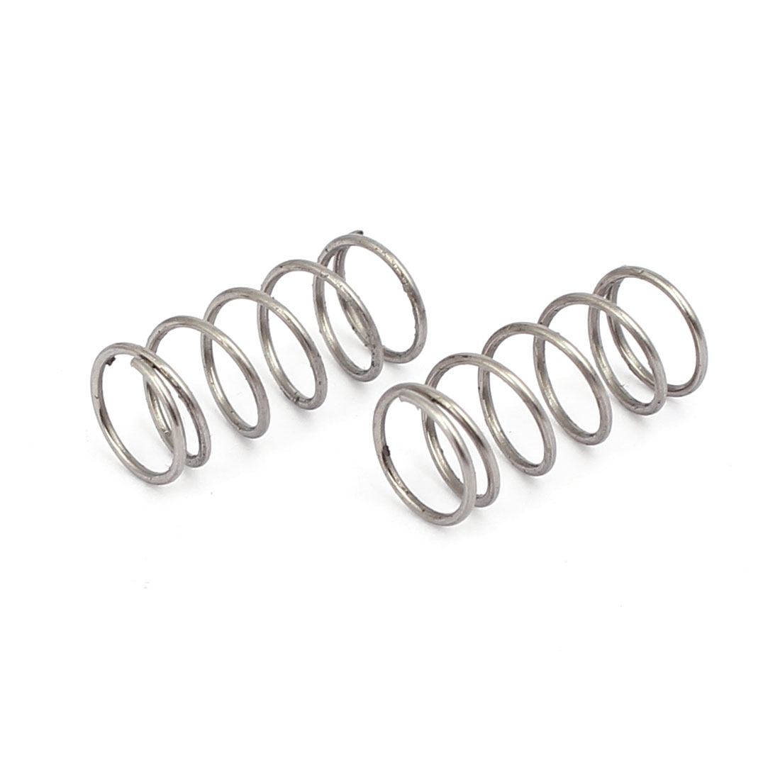 0.6mmx7mmx15mm 304 Stainless Steel Compression Springs Silver Tone 10pcs - image 1 of 3