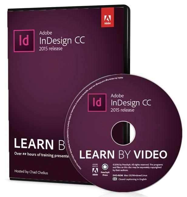 Adobe Indesign CC Learn by Video (2015 Release) (Hardcover)