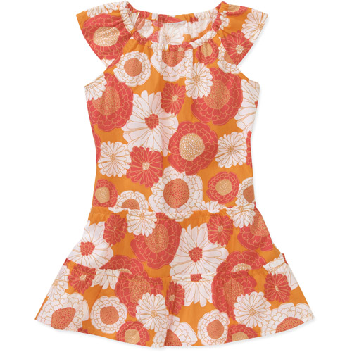 Healthtex Baby Girls' Tiered Woven Printed Dress