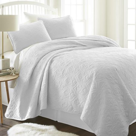 Noble Linens Premium Ultra Soft Damask Pattern Quilted