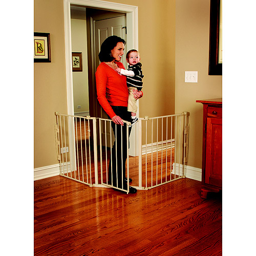 Regalo 76-Inch Super Wide Configurable Walk Through Baby Gate, Hardware Mount